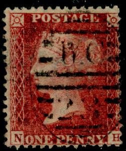 SG40, 1d rose-red PLATE 59, LC14, USED. Cat £18. NH