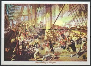 1980 St Christopher Nevis Anguilla 396/B8 Art, Lord Nelson, Ship