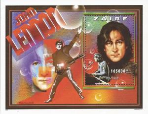 Zaire - 1997 Musician John Lennon - Stamp Souvenir Sheet - 26B-003