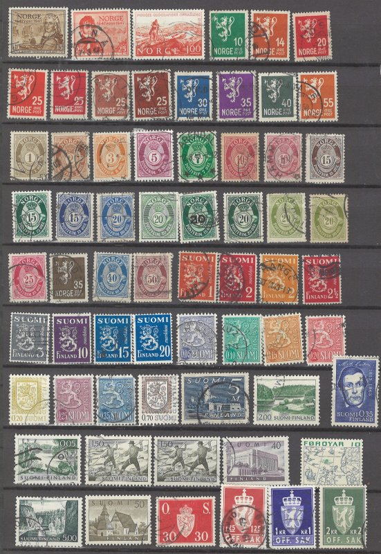COLLECTION LOT # 40 SCANDINAVIA 132 STAMPS CLEARANCE