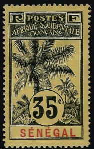 Senegal (Scott #66) Mint OG VF hr CV $27.50...Buy before prices go up!