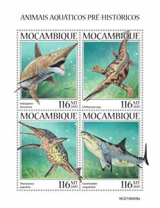 Z08 IMPERF MOZ190408a MOZAMBIQUE 2019 Prehistoric water animals MNH **