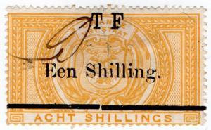 (I.B) Orange Free State Telegraphs : 1/- on 8/- (1888)