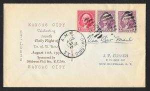 UNITED STATES Event Cover 1000th Daily Flight 1932 St Louis