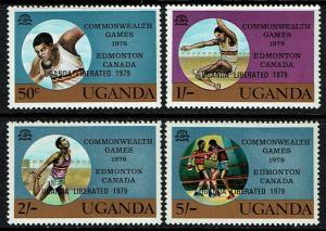 Uganda 249-252 MNH (1979) Sports - Boxing - Track - Field