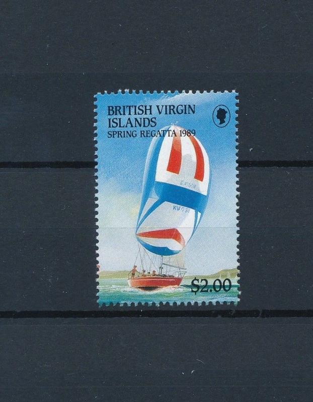 [81262] British Virgin Islands 1989 Ships Sail Sailing Regatta from sheet MNH