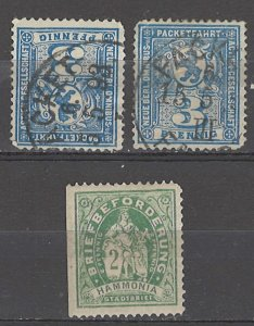COLLECTION LOT # 5361 GERMANY 3 PRIVATE POST STAMPS CLEARANCE