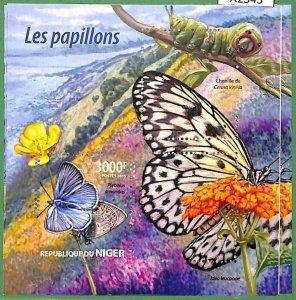 A2345 - NIGER - ERROR - MISPERF stamp sheet 2015 The Butterflies