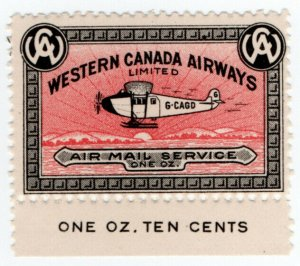 (I.B) Canada Private Air Mail : Western Canada Airways 10c
