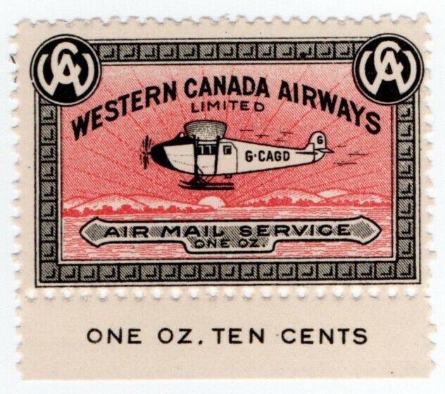 (I.B) Canada Private Air Mail : Western Canada Airways 10c
