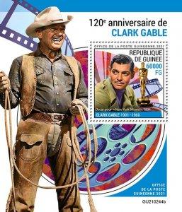 GUINEA - 2021 - Clark Gable - Perf Souv Sheet -Mint Never Hinged
