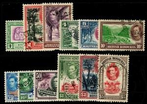 BRITISH HONDURAS SG150-161, COMPLETE SET, FINE USED. Cat £95.