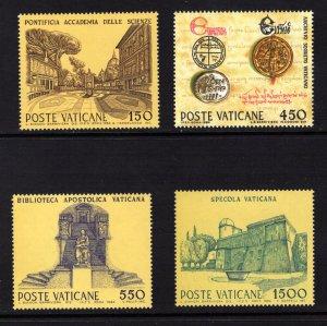 VATICAN CITY  SC# 733-736  FVF/MNH