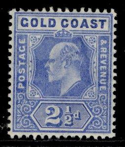 GOLD COAST EDVII SG62, 2½d blue, M MINT. Cat £23.