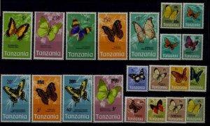 Tanzania 35-53,135-36 MNH Butterflies SCV90.50