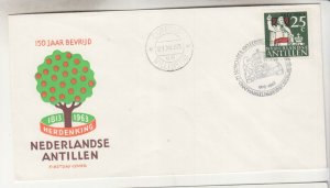 NETHERLANDS ANTILLES,1963 Kingdom of the Netherlands 25c., First Day cover/