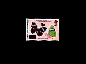 BELIZE - 1977 - BUTTERFLIES - INSECT - BUTTERFLY - 5c OVPT - MINT - MNH SINGLE!