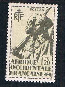 French West Africa 25 MLH Colonial Soldier  (BP10216)