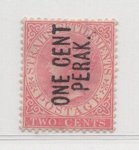 Malaya Perak - 1886 - SG26 - 1c on 2c -  no gum #620