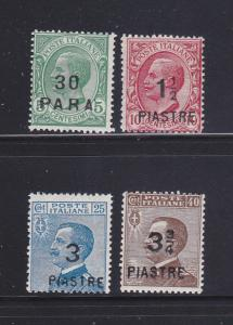 Italy Offices In Turkish Empire 46-49 MH King Victor Emmanuel III
