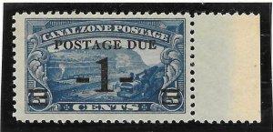 Canal Zone Scott #J21 Mint 1c Postage Due O/P 2016 CV $3.75