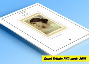 COLOR PRINTED GREAT BRITAIN 2006 PHQ CARDS STAMP ALBUM PAGES (91 illust. pages)