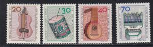 Germany # 9NB101-104, Musical Instruments, NH, 1/2 Cat.