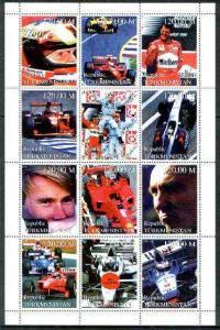 Turkmenistan 1999 Formula 1 Cars & Drivers perf sheet...