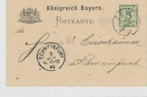 German Postal History Stamps Postcard Ref: R4986