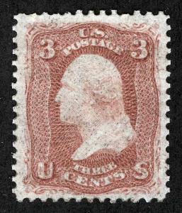 US Sc 65 Rose 3¢ 1861 Original Gum Hinged *MP lots