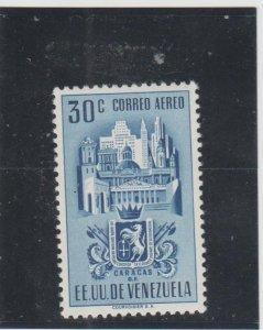 Venezuela  Scott#  C370  MH  (1951 Arms of Caracas)