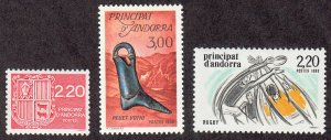 Andorra-French - 1988 - SC 360-62 - LH