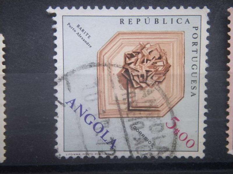 ANGOLA, 1970, used 5e, Fossils and Minerals Scott 560