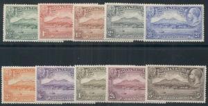 MONTSERRAT #76-84, Complete set, og, LH, VF, Scott $193.60
