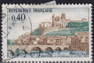 France 1220 USED 1968 Point Vreux, Brzeirs Cathedral Bridge