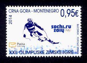 Montenegro Sc# 356 MNH Winter Olympic Games 2014