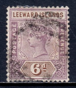 Leeward Islands - Scott #5 - Used - Short perfs at bottom, pencil/rev. - SCV $14
