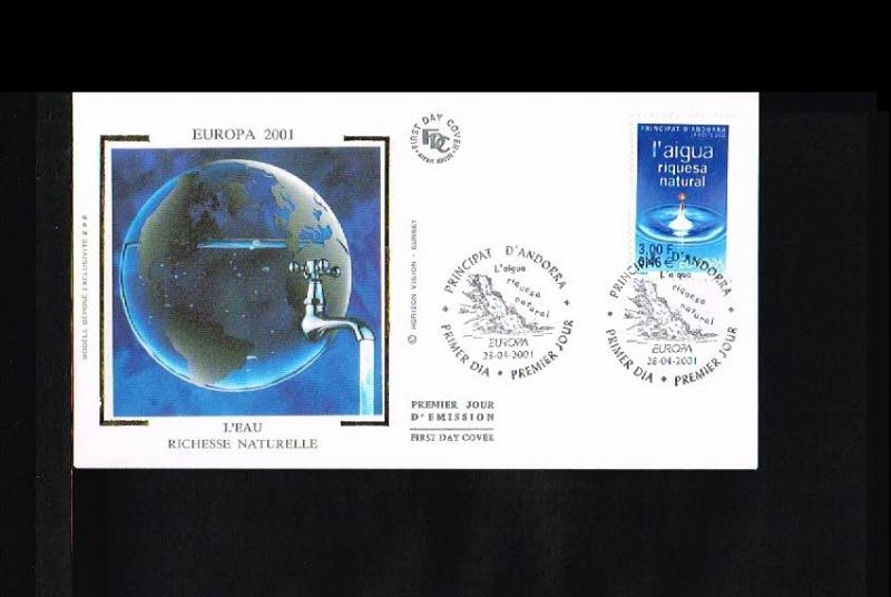 2001 - Europe CEPT FDC Andorra (French) Mi.567 [HY003]