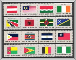 United Nations NY #374-389 Flags Complete Set MNH
