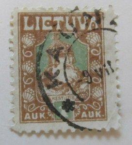 A11P5F22 Litauen Lituanie Lithuania 1921-22 1auk Used
