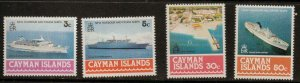 CAYMAN ISLANDS SG441/4 1978  NEW HARBOUR & CRUISE SHIPS MNH