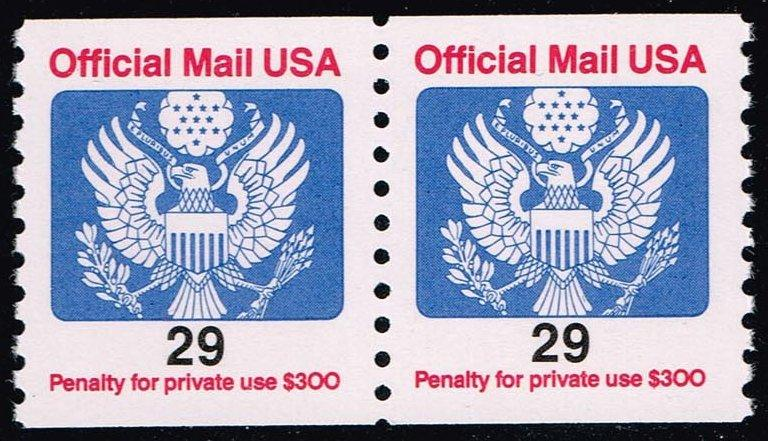 US #O145 Official Mail; MNH pair (1.40)
