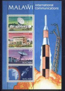 Malawi 385a MNH Satellite, Communications, Satellite Dish, Rocket