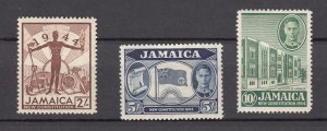 J27479 1944 jamaica hv of set mnh #133-5