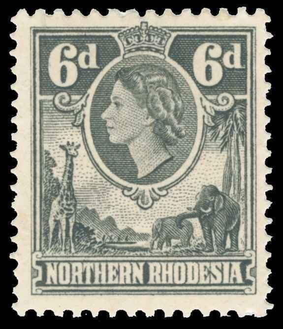 Northern Rhodesia Scott 68 Variety Gibbons 68w Mint Stamp
