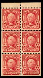momen: US Stamps #319Fq Mint OG Booklet VF