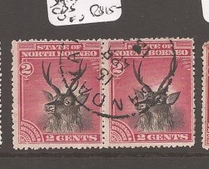 North Borneo SG 68 pair Sandakan CDS VFU (10awt)