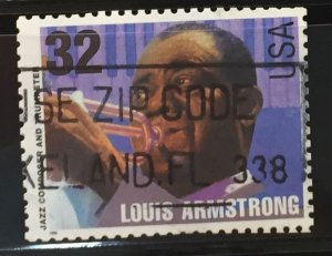 US #2982 Used F/VF - Louis Armstrong 32c
