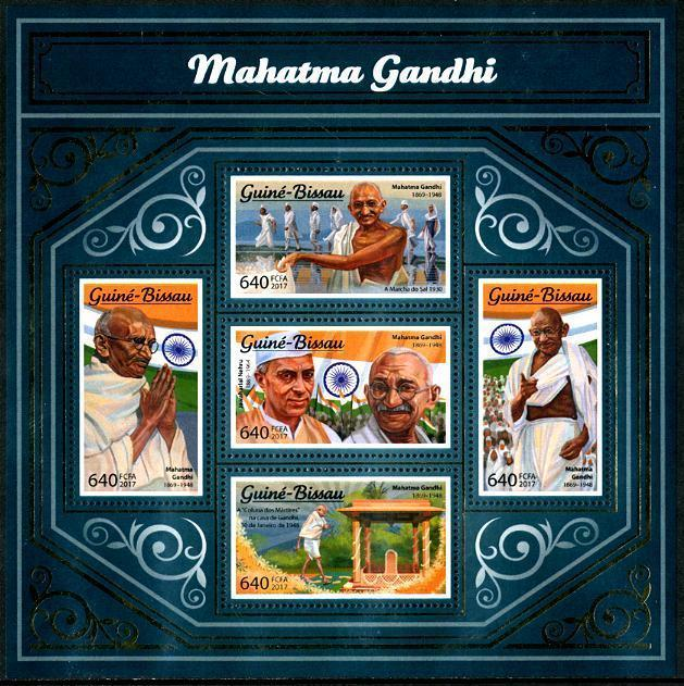 HERRICKSTAMP NEW ISSUES GUINEA BISSAU Mahatma Gandhi