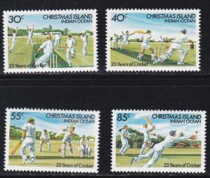 Christmas Island # 157-160, Cricket Players, NH, 1/2 Cat.